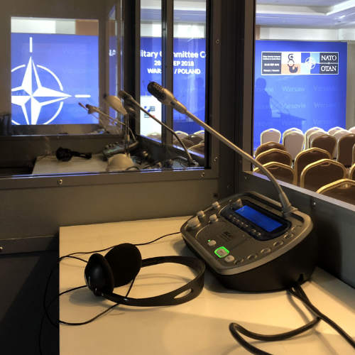 Simultaneous interpreting equipment in Moscow and St. Petersburg